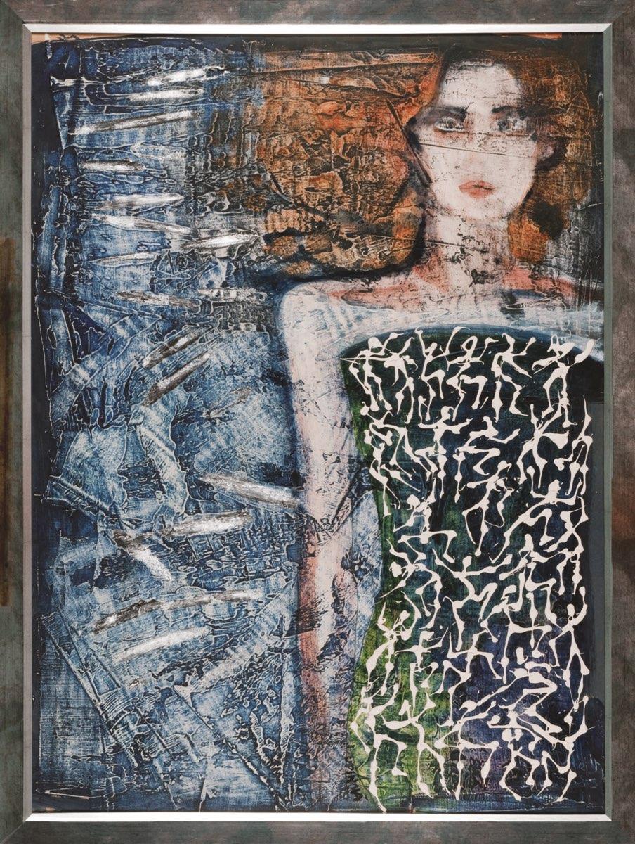 ALENA LIPINOVÁ Šijou s ní všichni čerti - komb. tech., 100 x 70 cm