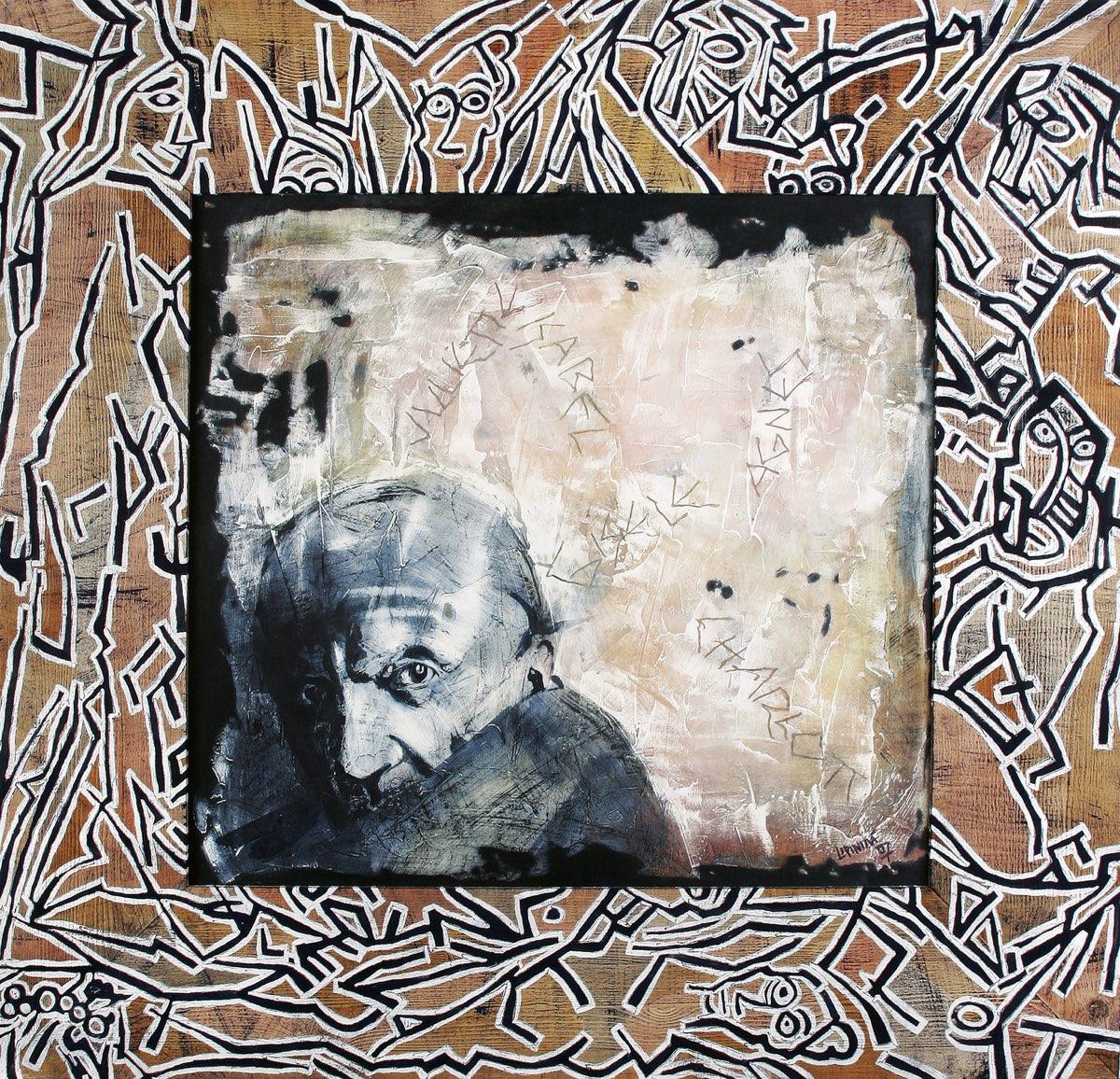 ALENA LIPINOVÁ Avignonské slečny - komb. tech., 109 x 115 cm