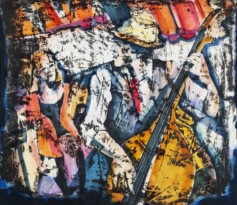 ALENA LIPINOVÁ Control Zebre Control Jazz - komb. tech., 70 x 80 cm