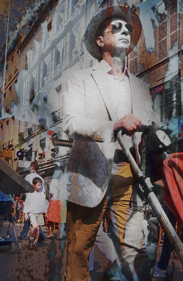 JAN LIPINA L'homme avec une poussette
