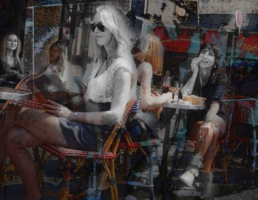 JAN LIPINA les femmes dans un café