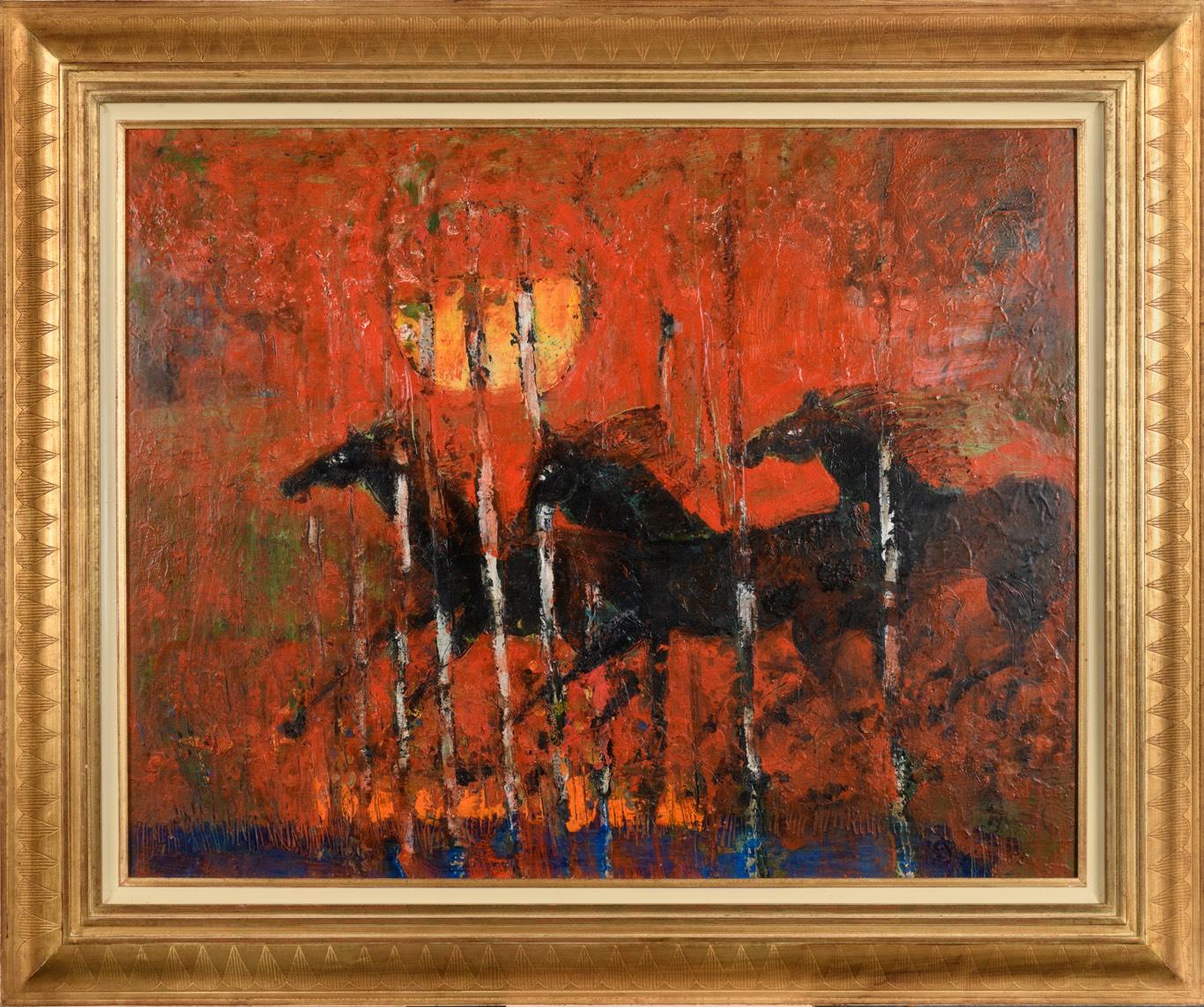 TYLEČEK Divocí koně 73 x 92