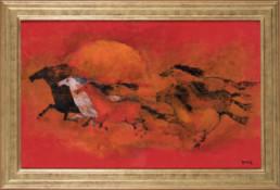 TYLECEK - CHEVEAUX SAUVAGE - Divocí koně 81x130 cm