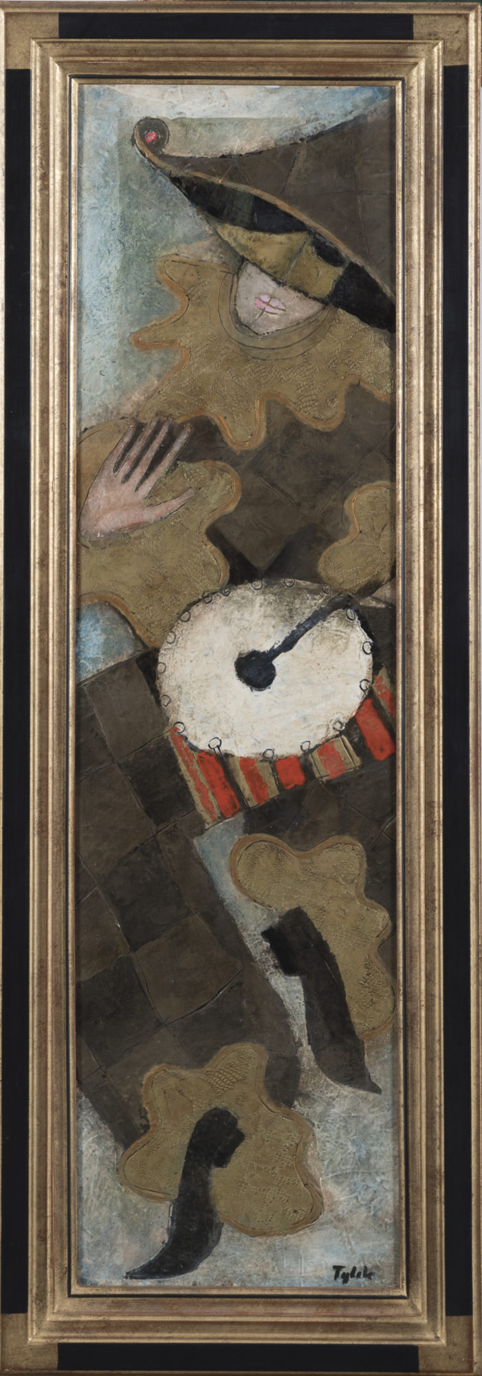 TYLEK ARLEQUIN AU TAMBOUR Harlekýn s bubnem 130x35 cm