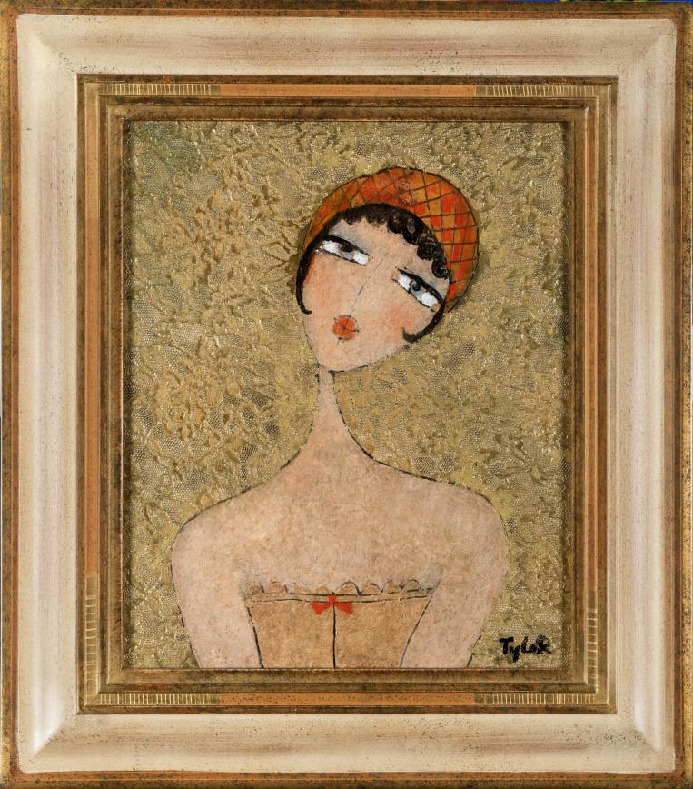 TYLEK - FILLE DE PARIS - Pařížské děvče 46x38 cm
