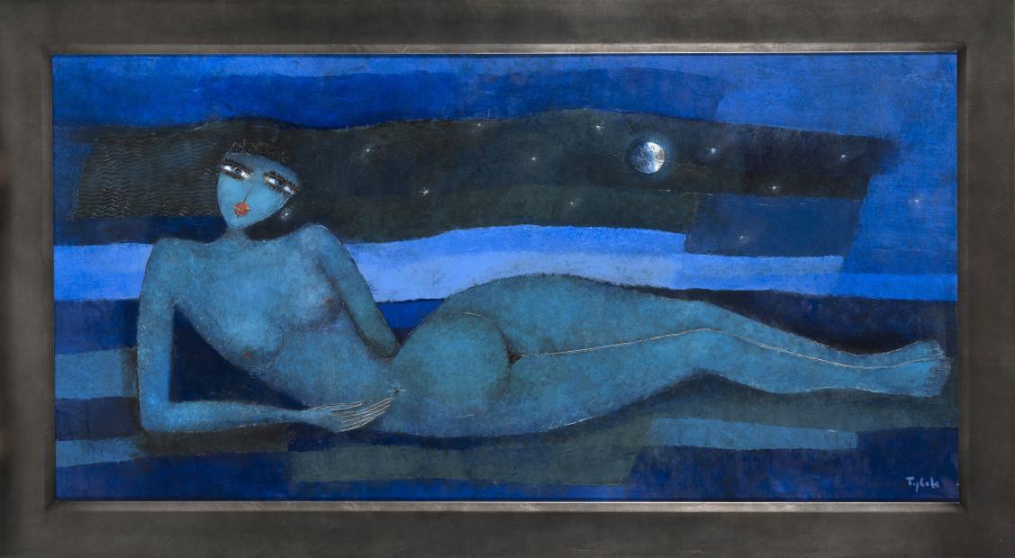 TYLEK - NU ABONDONNÉ Modrý sen 80x160 cm