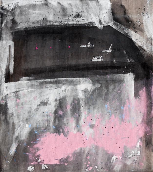 ZDENĚK TOMÁNEK - BRETAGNE 3 85x75 cm, kombinovaná technika
