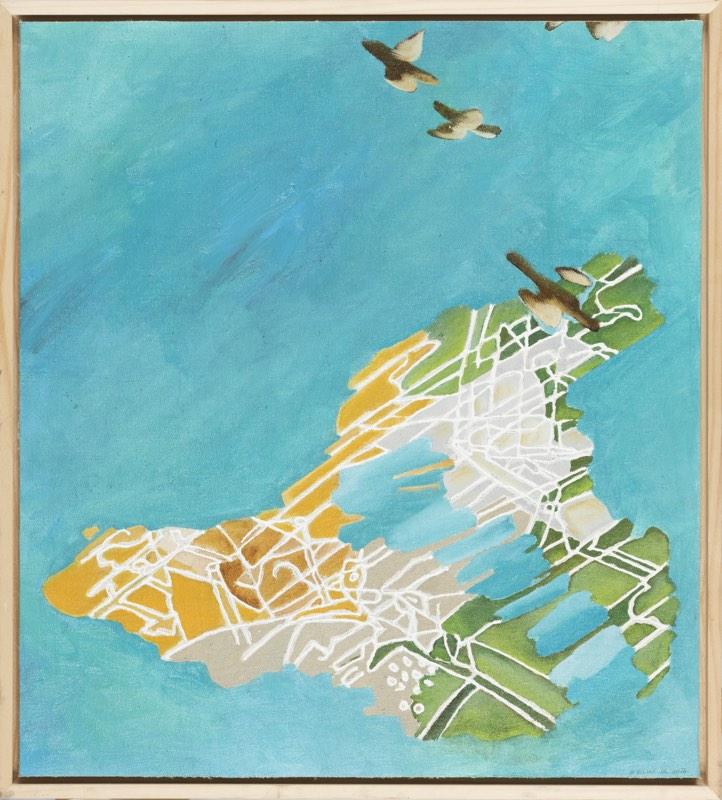 BOHUMIL ELIÁŠ ML Vodní krajina 50 x 45 cm