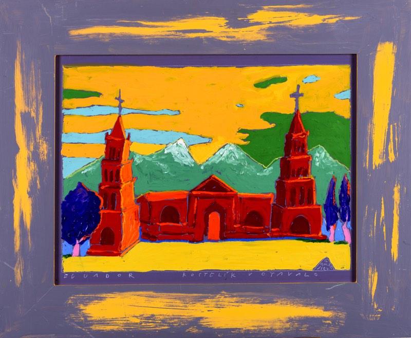 BORIS JIRKŮ Kostelík v Oto Valo 66 x 50 cm