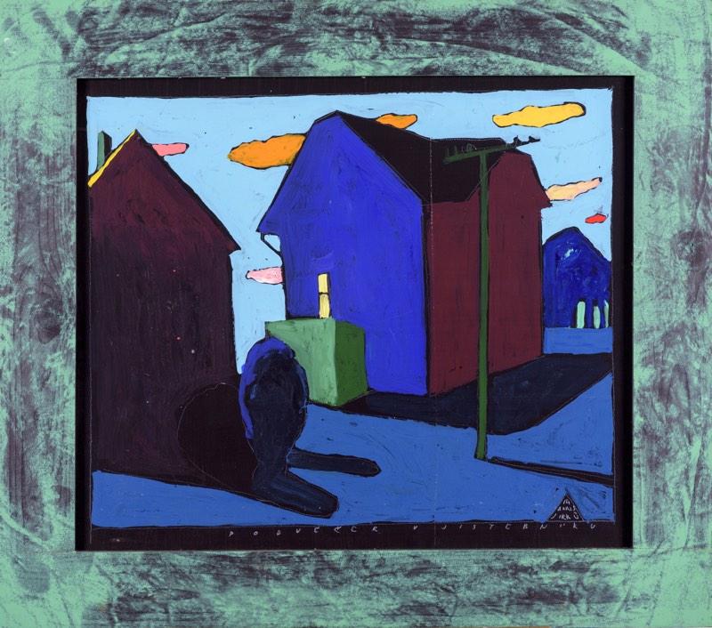 BORIS JIRKŮ Podvečer v Jistebníku 70 x 60 cm