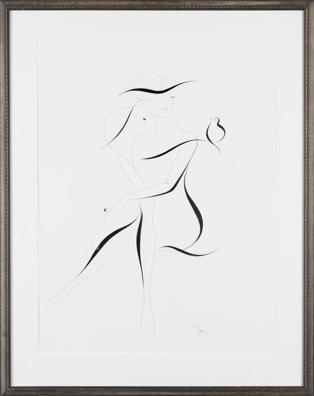 MICHAELA ŽEMLIČKOVÁ S ptákem 48 x 63 cm