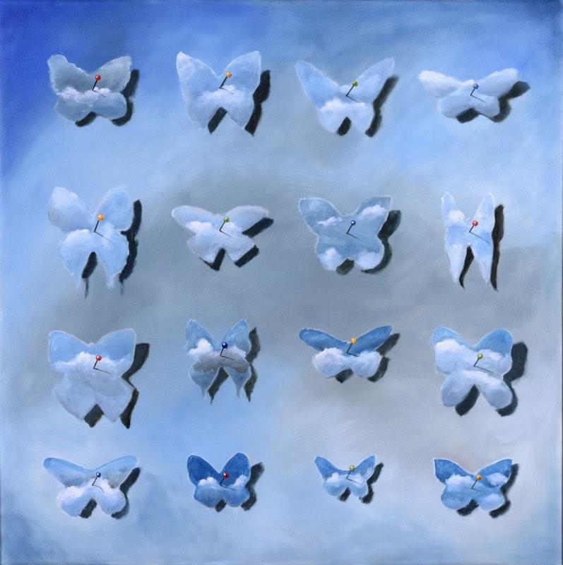 VÁCLAV FILANDR Mám doma sbírku motýlů 80 x 80 cm