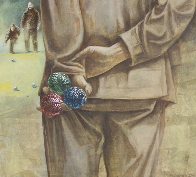 VIKTORIA BAN-JIRÁNKOVÁ Velikonoční petangue 50x45 cm