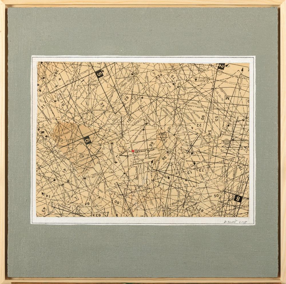 Bohumil Eliáš Galerijní ulice,47x47 cm, koláž