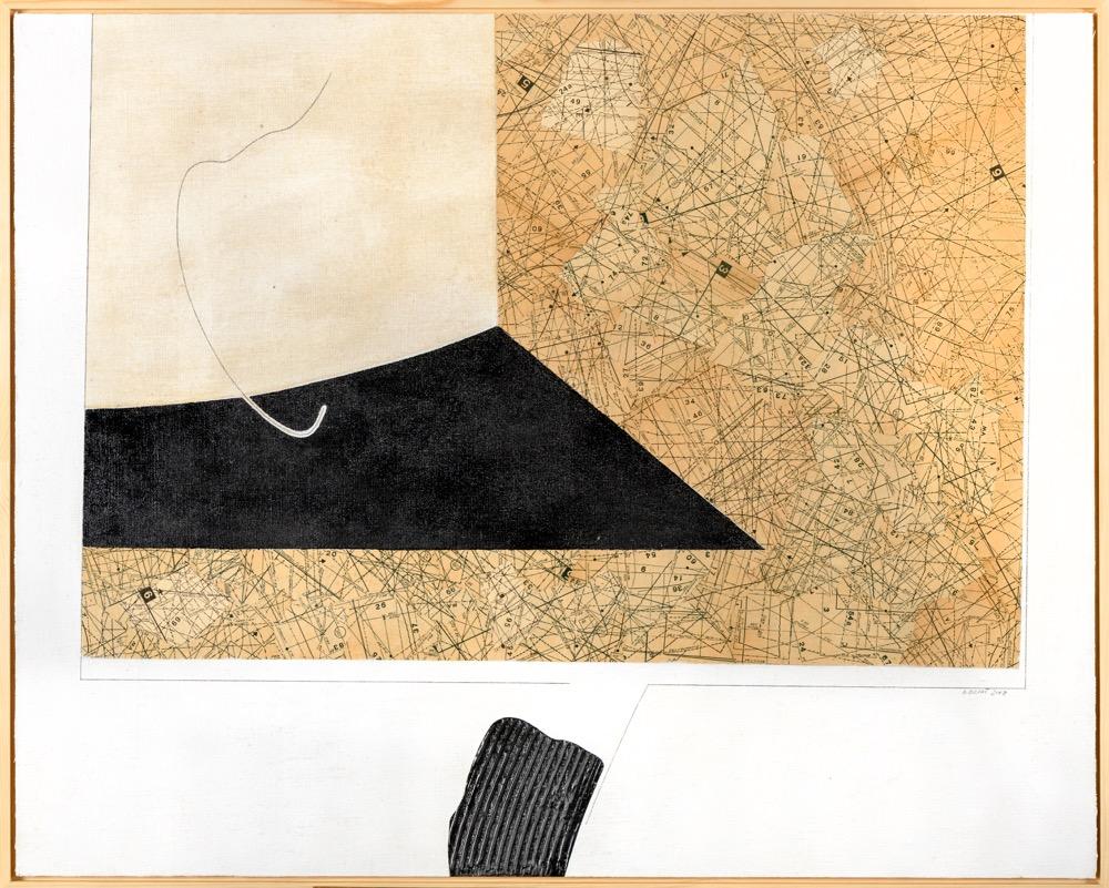 Bohumil Eliáš Vzdálený prostor, 77x97 cm, koláž