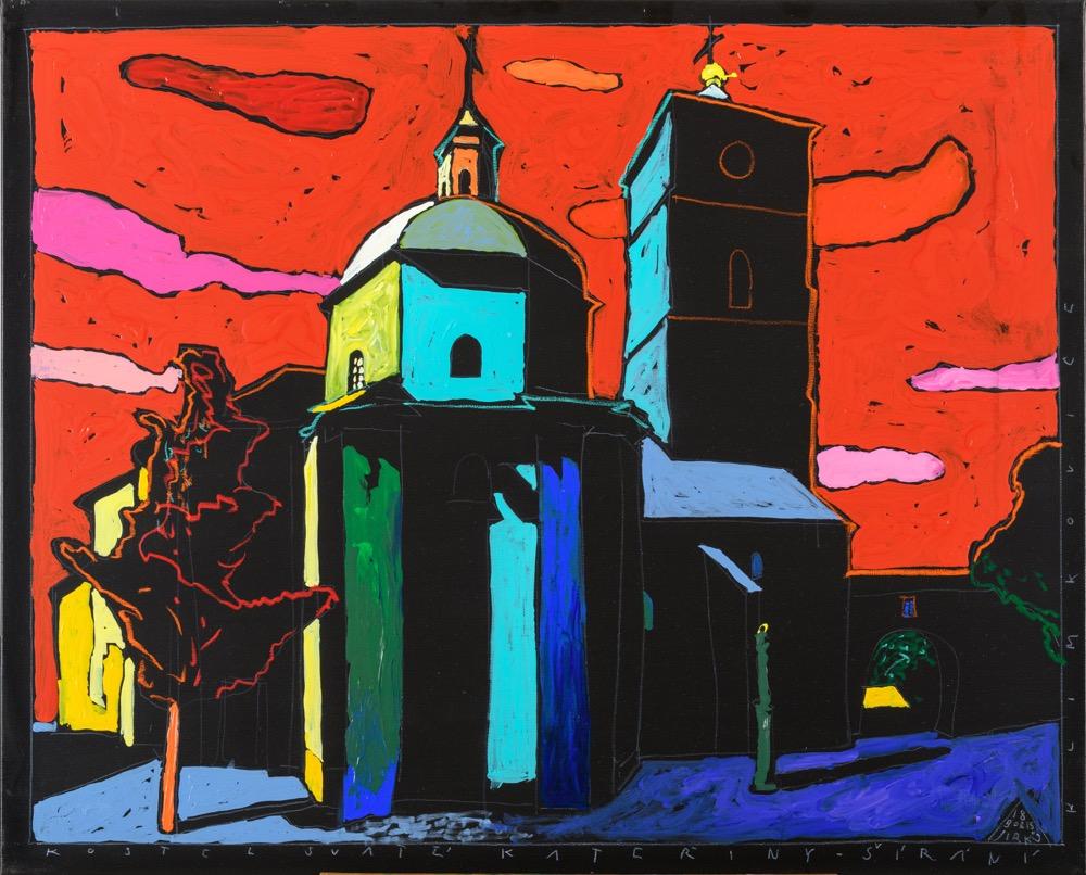 Boris Jirků Kostel Sv Kateřiny širaně Klimkovice 80x100