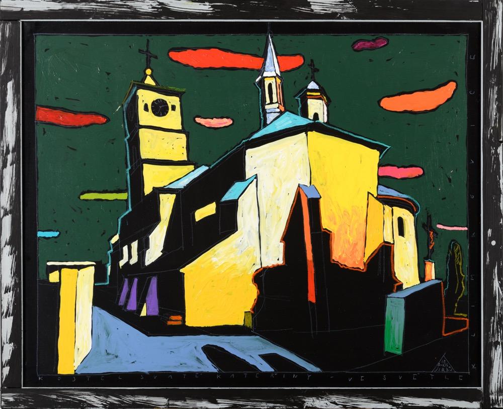 Boris Jirků Kostel Sv Kateřiny světlé Klimkovice 80x100