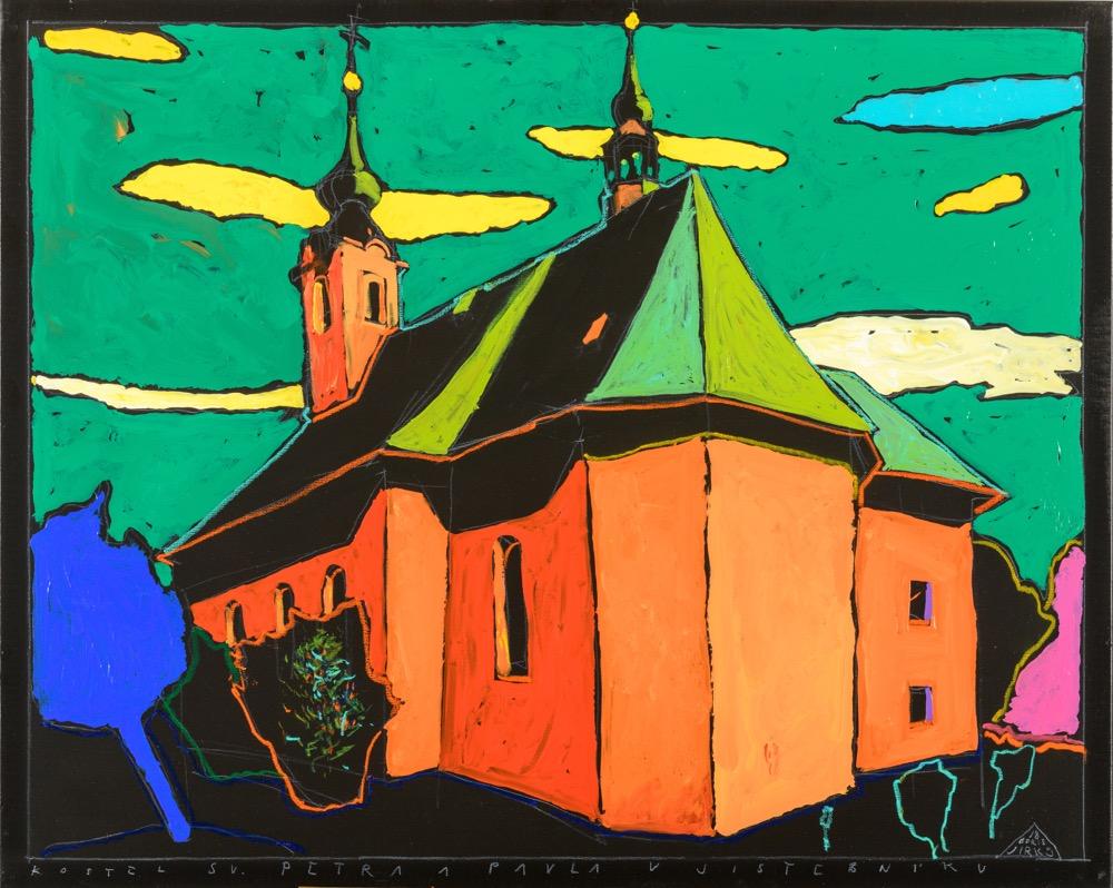 Boris Jirků Kostel sv. Petra a Pavla v Jistebníku 80x100