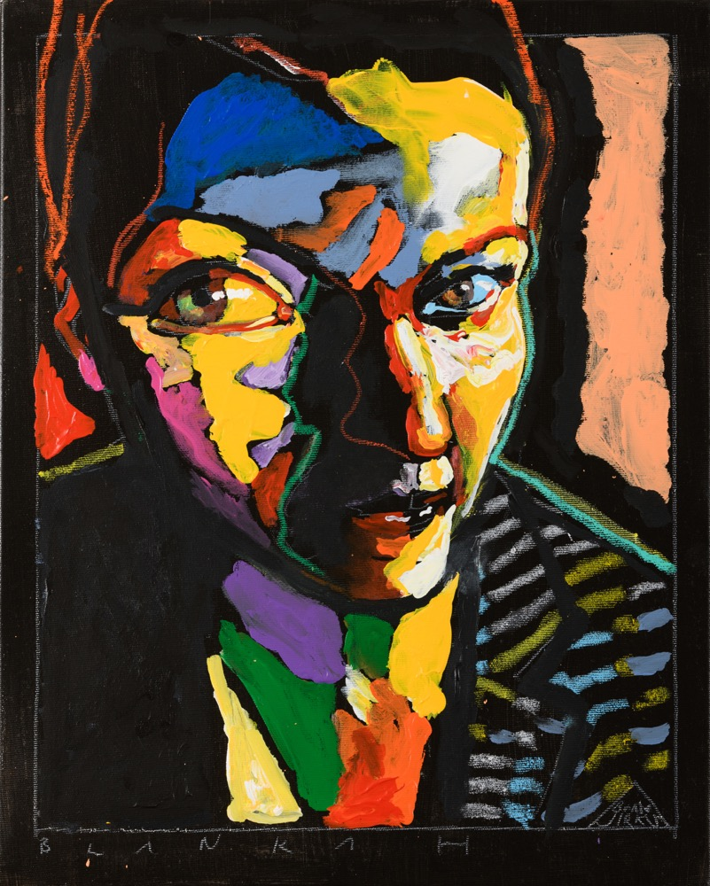 Boris Jirků portrét B. Holander 50x40
