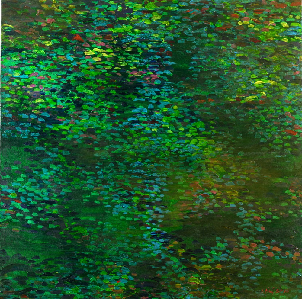 Jan Tichý Jistebnický rybník 100x100 akryl