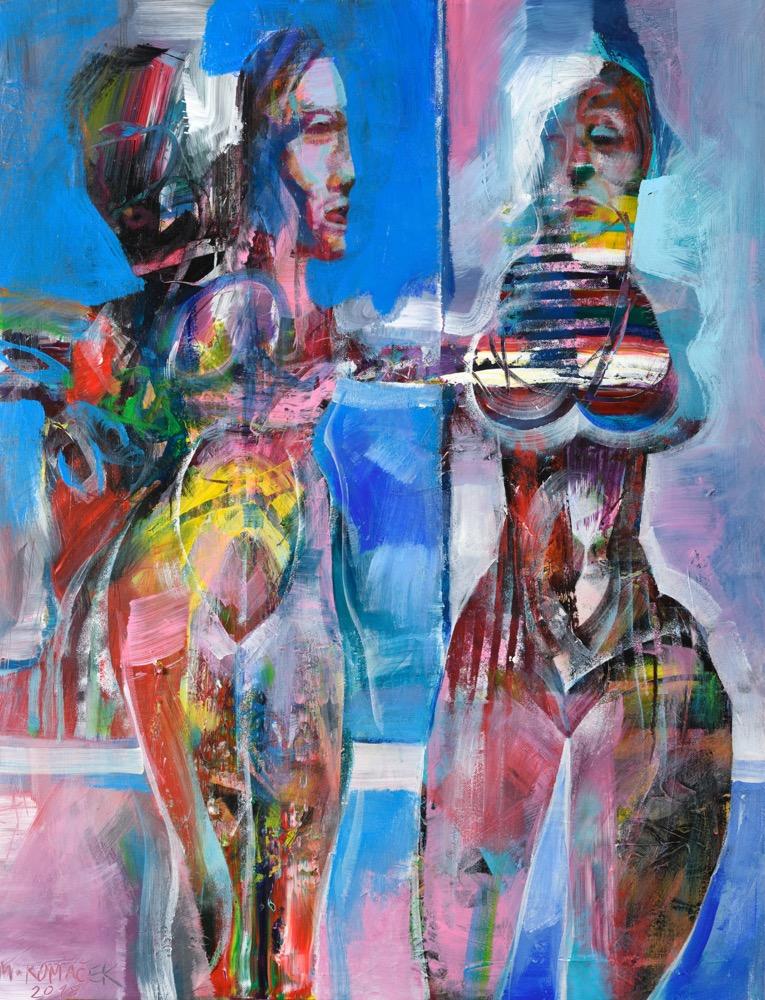 Marián Komaček U doktara, 80x60 cm, akryl