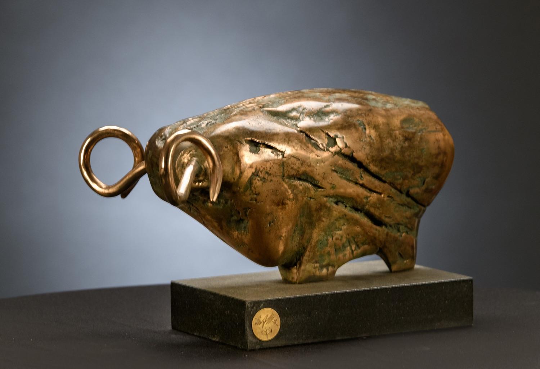 JURAJ ČUTEK Znamenie berana (bronz) 33x38