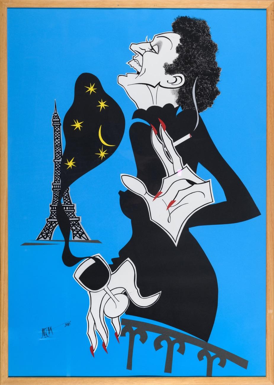 BLECHA E. Piaf 100x70 cm
