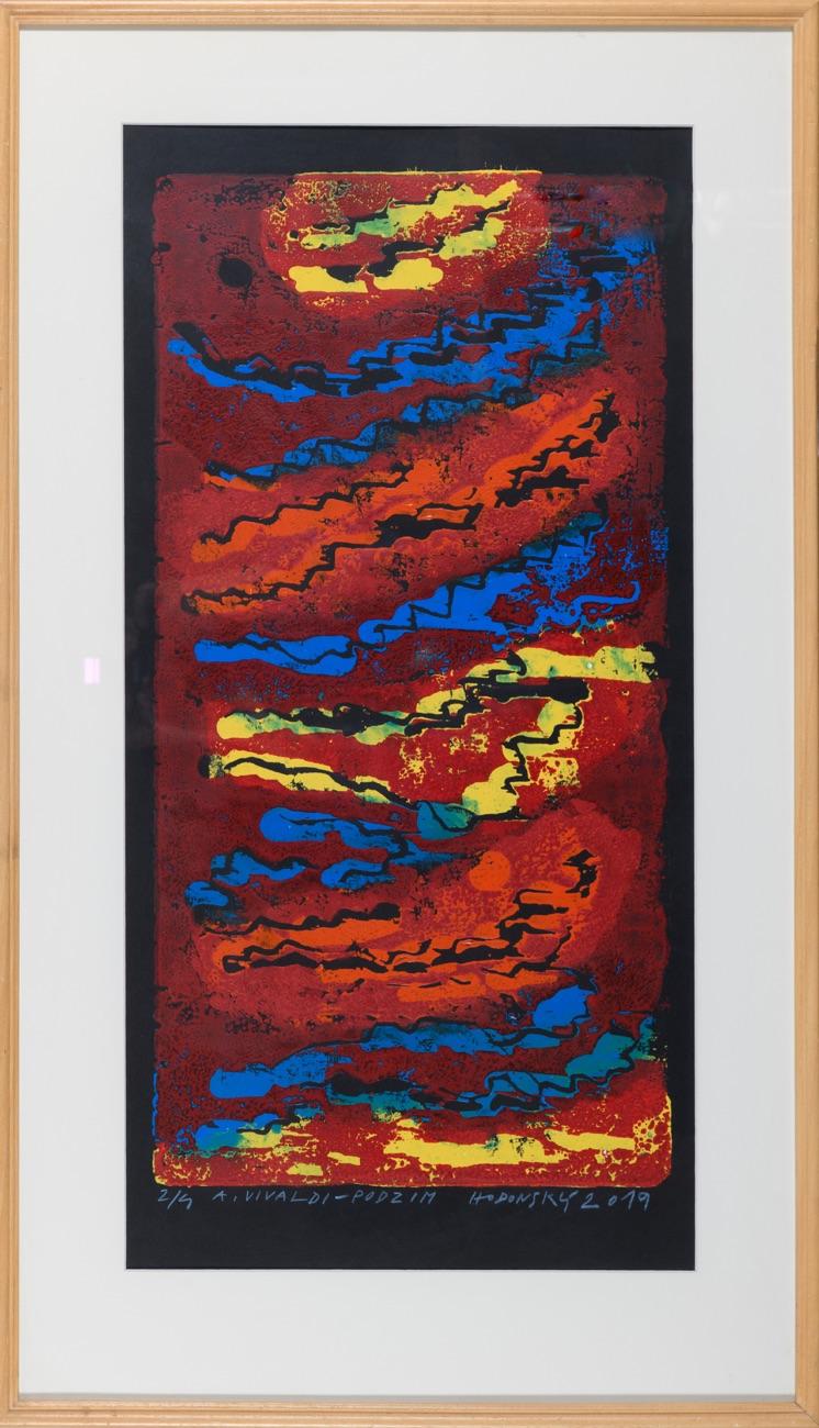 FRANTIŠEK HODONSKÝ A. Vivaldi Podzim 65x33 cm