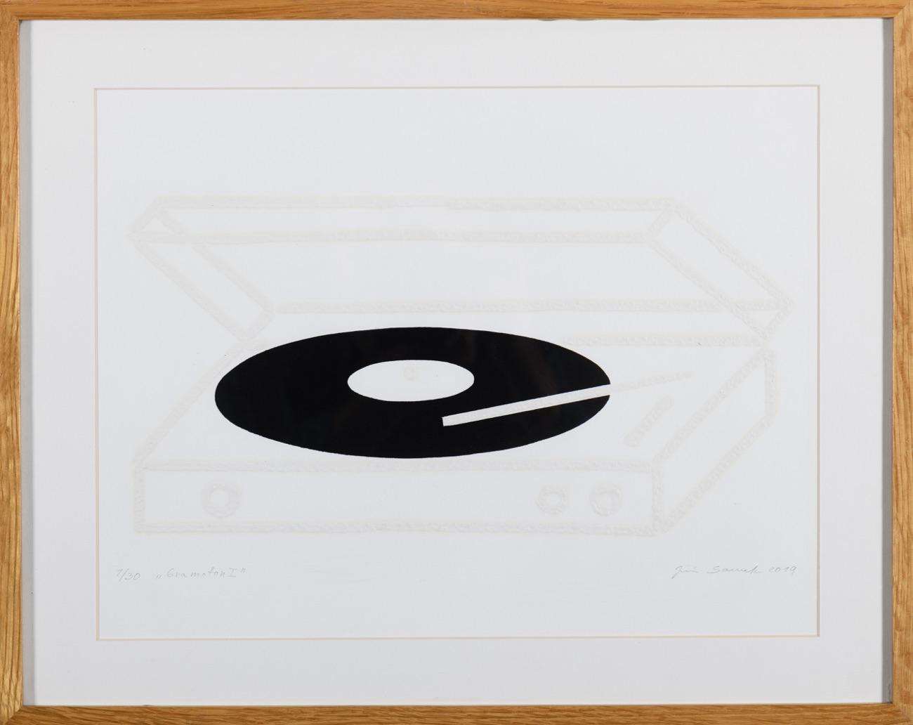 JIŘÍ SAMEK Gramofon I 25x40 cm
