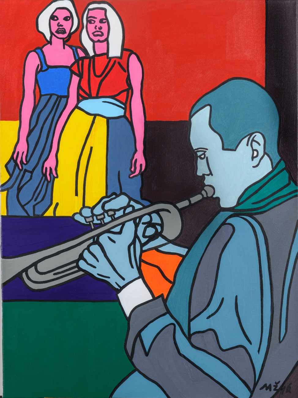 JOSEF MŽYK Hommage Miles Davis 80x60 cm