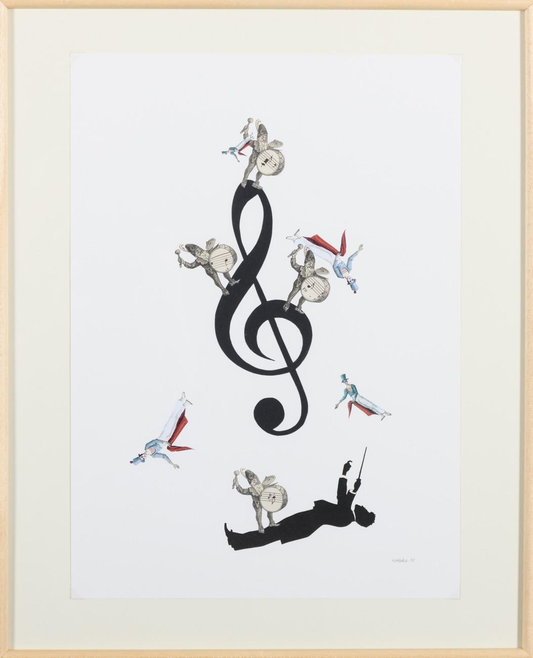 PAVEL HOLEKA Bipův houslový klíč 42x30 cm