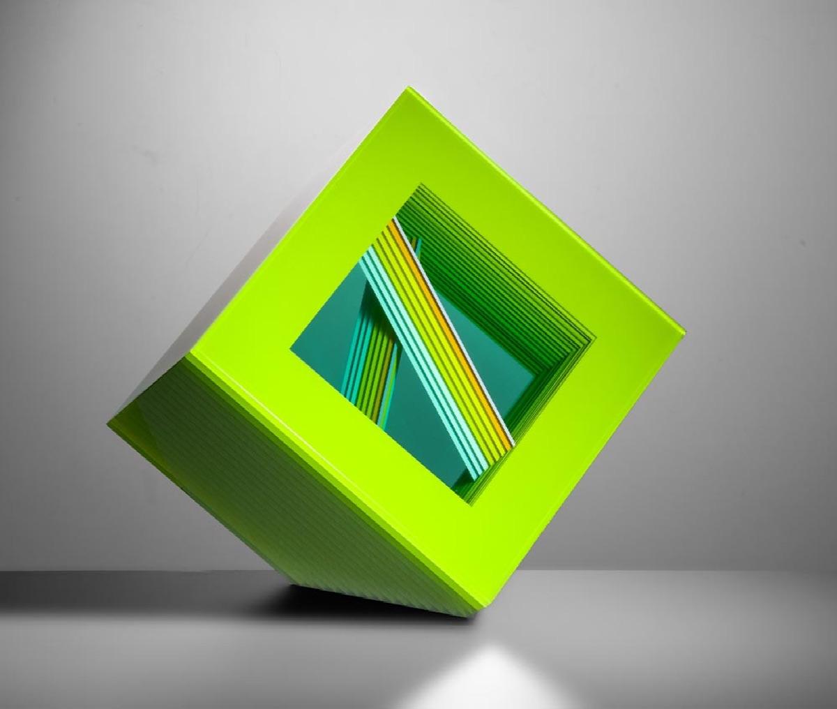 BOHUMIL ELIÁŠ ML. Stavba zelené 25 x 25 x 19 cm