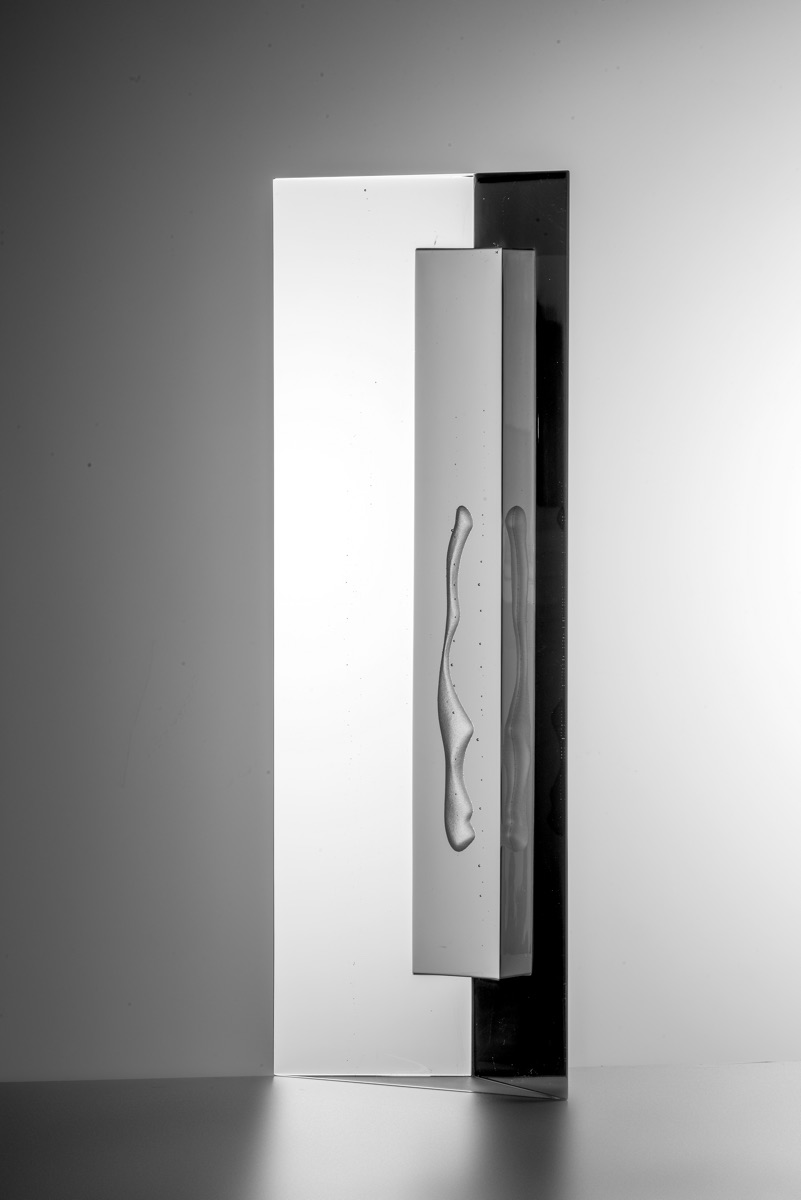 BOHUMIL ELIÁŠ ML. Tichý obyvatel, 60x23x12cm, tavené sklo, 2019