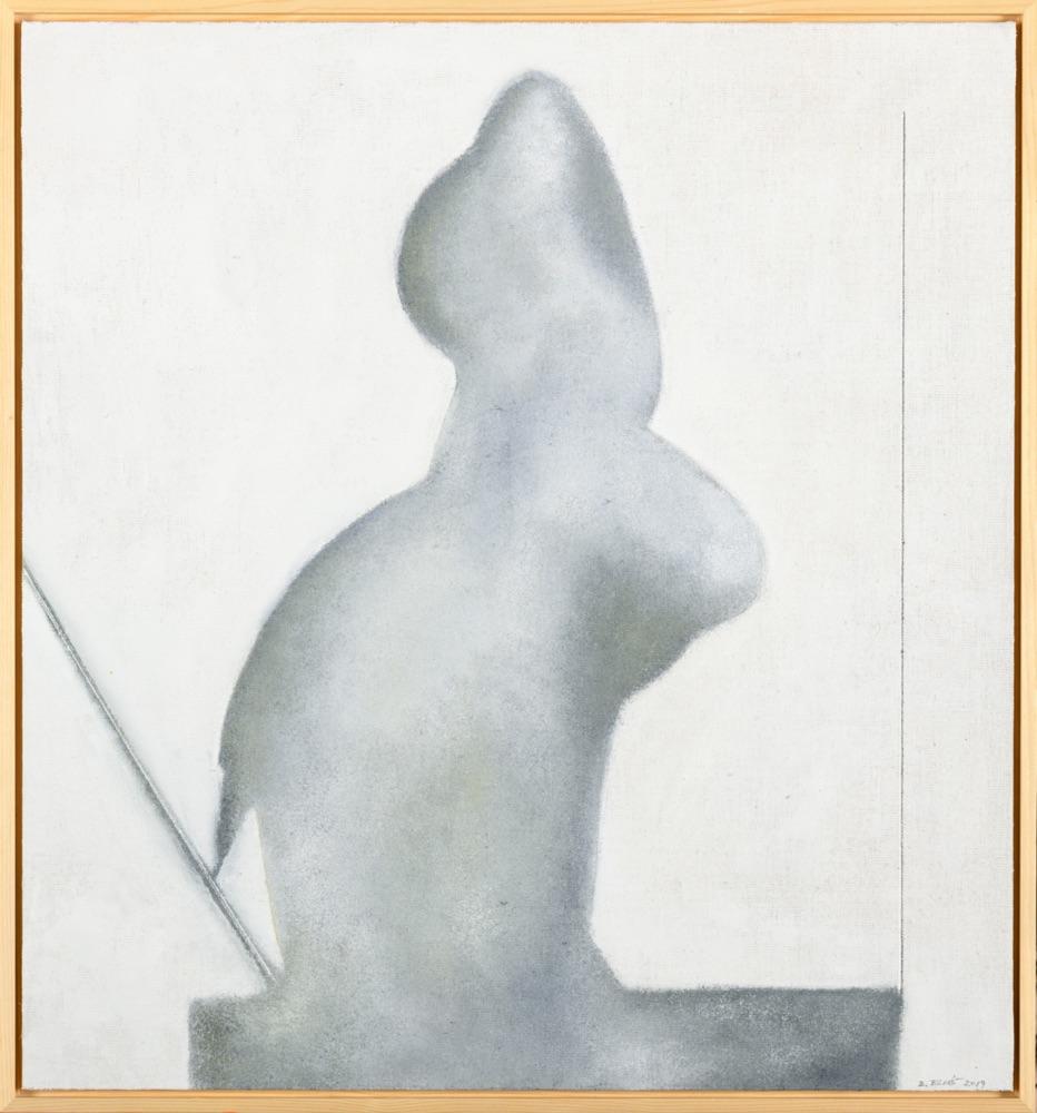 B. ELIÁŠ Stín 67xx62 cm olej na plátně