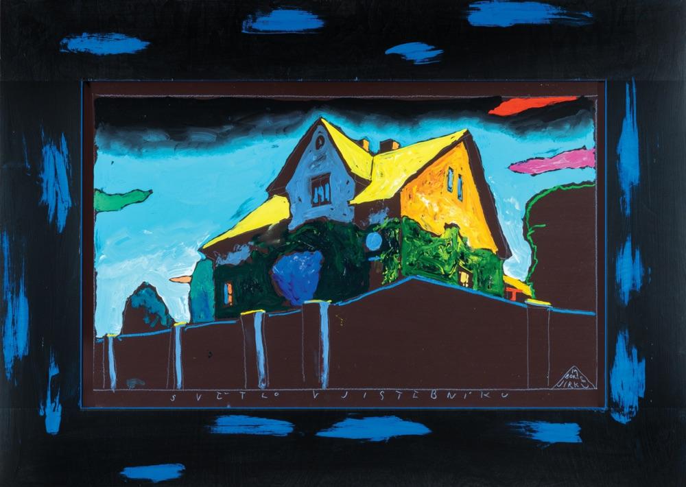 BORIS JIRKŮ Světlo v Jistebniku 50x75 cm