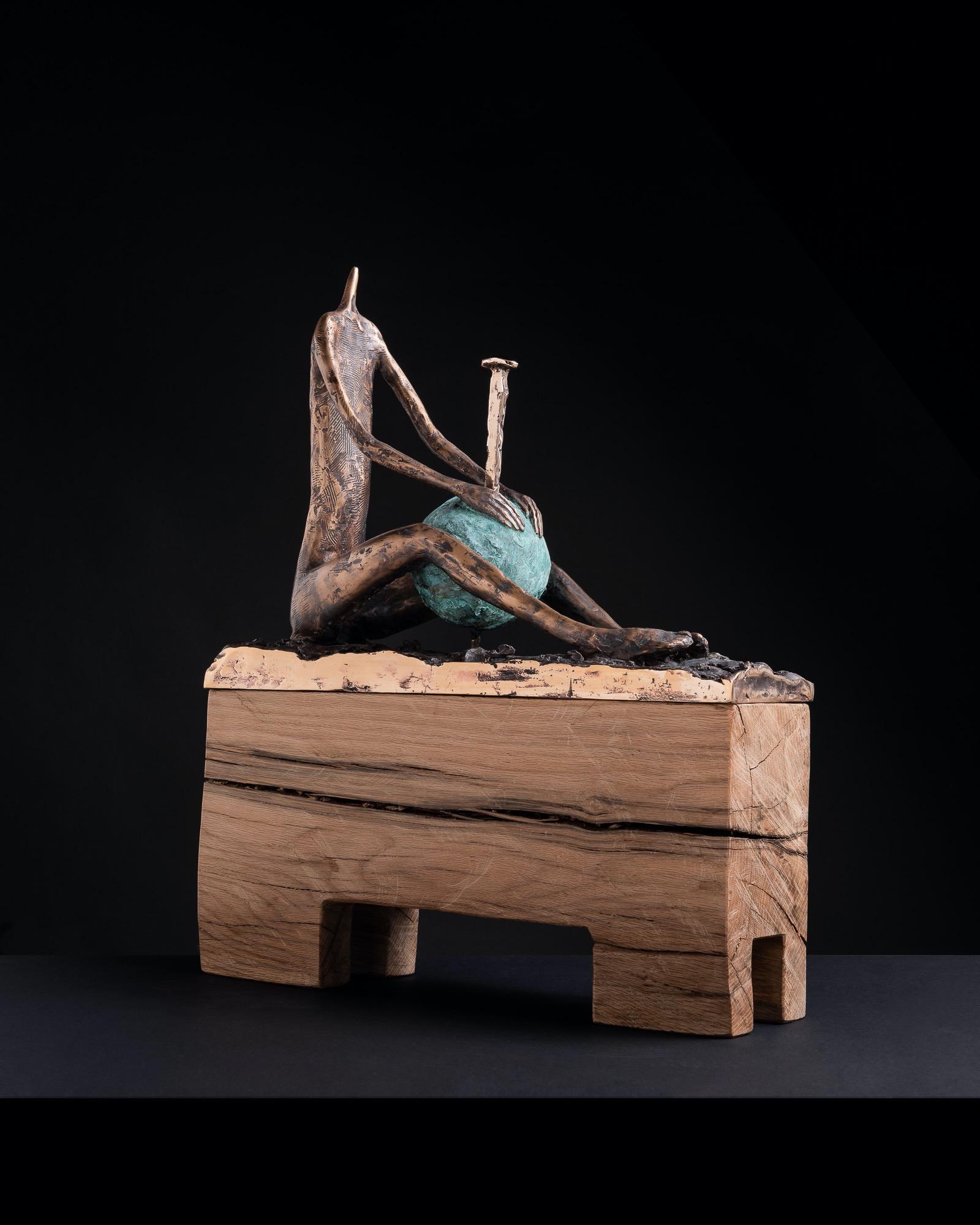 JAKUB BACHORÍK Ďalší do zbierky!!!-bronz drevo, 61cm