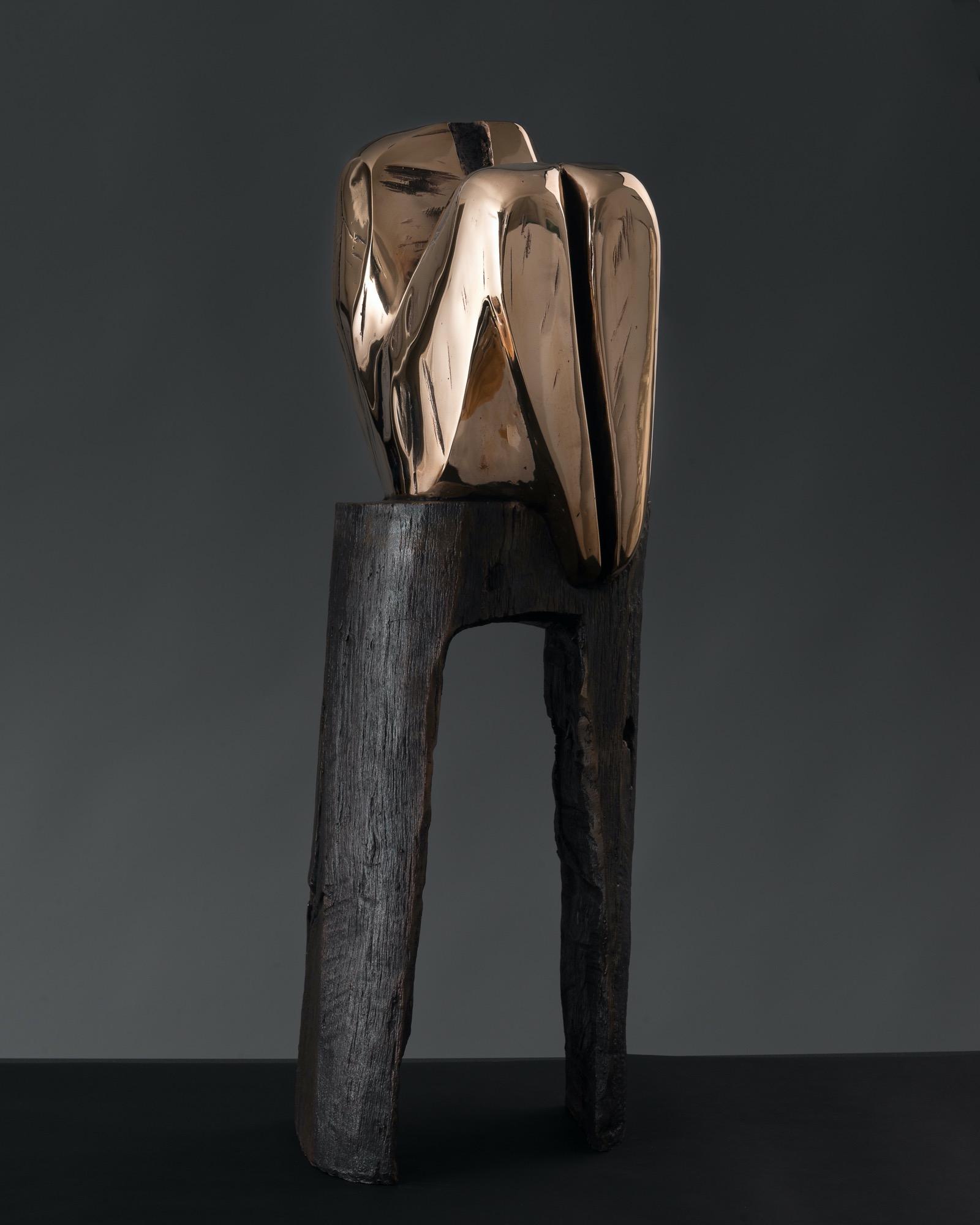 JAKUB BACHORÍK Torzo na stoličke-bronz 74cm